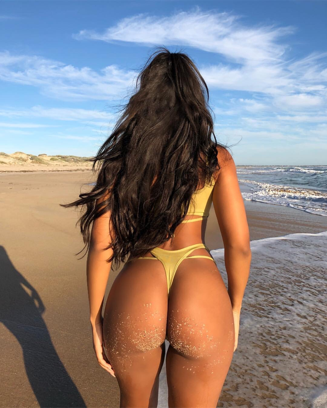 Back Ass Beautiful Woman Isolated On Stock Photo